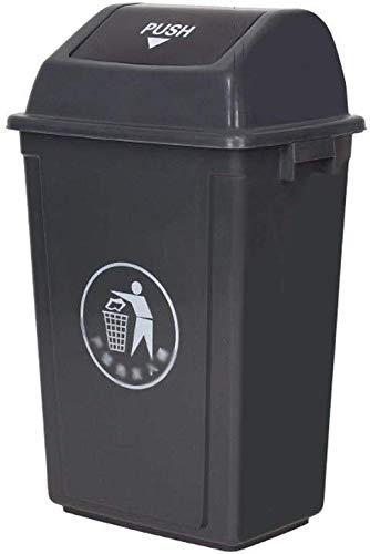 Cubos de basura GGJIN Espesar la Papelera, Clasificación plástico de baño Basura de la Oficina al Aire Libre Papelera de Basura de plástico multifunción Industrial Can Colección (Size : 60L)