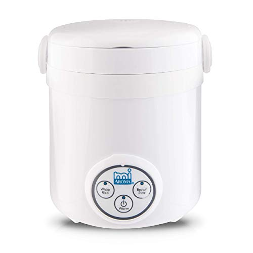 Aroma Housewares (MRC-903D) Mi 3-Cup (Cooked) (1.5-Cup UNCOOKED) Digital Cool Touch Mini Rice Cooker,White