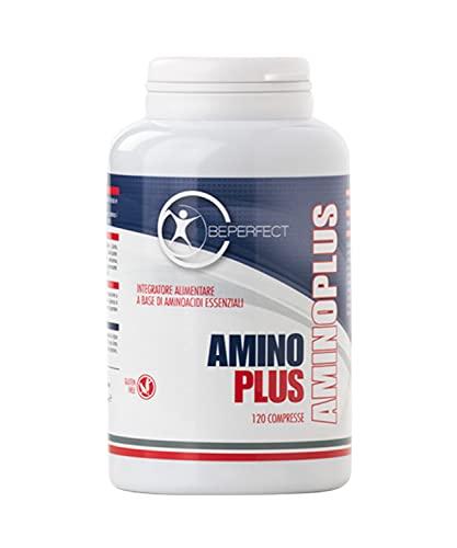 BePerfect – Amino Plus - Integratore Alimentare a base di aminoacidi essenziali – Vitamine B1 e B6 - Per sportivi - Per metabolismo energetico - Made in Italy - 120 Capsule