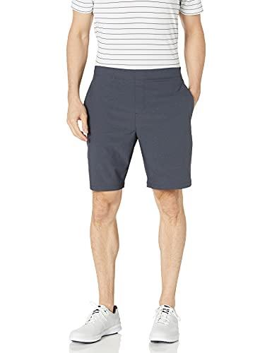 PGA TOUR Men's Exposed Elastic Waistband Dobby Golf Short, Caviar, XX Large