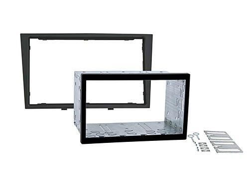meins24 kit d'installation double dIN pour oPEL astra h/corsa d/zafira b/antara/tigra/astra twin top noir/anthracite foncé