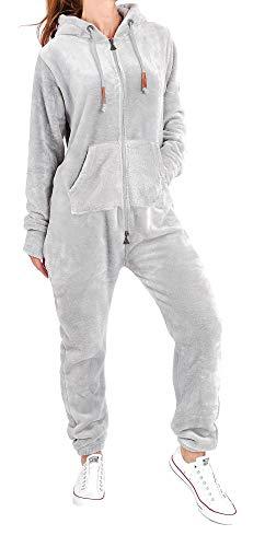Finchgirl F2001 Damen Jumpsuit Teddy Fleece Dunkelgrau Gr. L