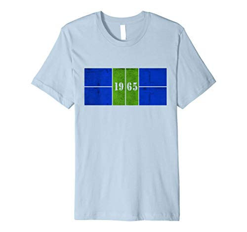 1965 Distressed Pickleball Court Blue/Green Premium Tee