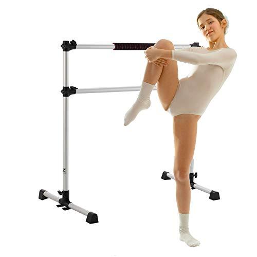 Z ZELUS Portable Ballet Barre for Home Gym | 1.2m Adjustable Gymnastics Bar | Freestanding Exercise...