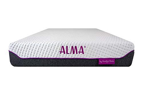 Alma Hybrid-Matratze in einer Box, Einzelbett, 90 x 190 cm, 25 cm hoch, mit Gel...