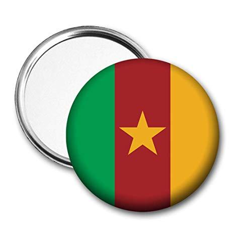 Kameroen Vlag Pocket Spiegel voor Handtas - Handtas - Cadeau - Verjaardag - Kerstmis - Stocking Filler - Secret Santa