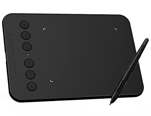 Xyfw Tableta Gráfica para Dibujar 4X3 Pulgadas 8192 Level Pen Tableta De Dibujo Compatible con Android Windows Mac Digital