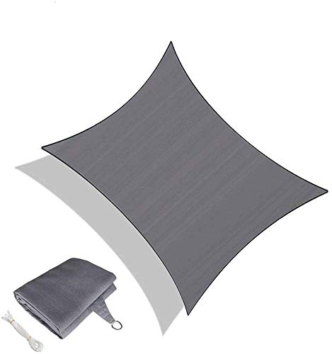 Shade Sails 2.5 X 4 Meters,Rectangular Resistant And Breathable Awning For Exteriors Garden,Black-2.44x3.66m(8 * 12ft)