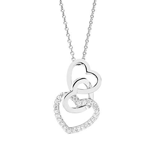 NANA KAY Pure Love ST1019 - Collar de plata de ley 925 con circonitas