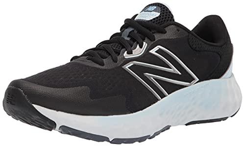 New Balance Women's Fresh Foam Evoz V1 Running Shoe, Black/Blue, 9
