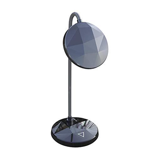 WWWL Lámpara Escritorio Protección de Ojos del Dormitorio USB Recargable Escritorio de Escritorio de la lámpara de la luz Regulable Plegable al Lado de la Cama 3 Nivel de Brillo Black