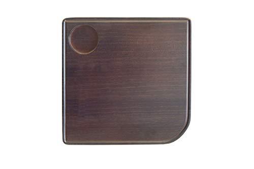 Bandeja para reposabrazos de sofá, sillón o butaca| mesita auxiliar de madera natural con posavasos| soporte auxiliar universal para sofá| Adaptable y estable|Diseño moderno