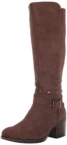 WHITE MOUNTAIN Shoes Paulina Women's Boot, Brown/Waxy/Fabric, 8H M