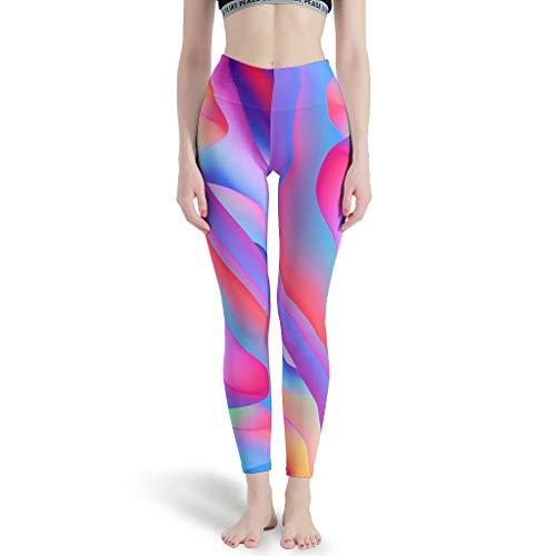 Lind88 Yoga Broek Vrouwen Ontwerpen, Heldere achtergrond Patroon Print Naadloze Leggings Yoga Capris Gedrukt -Heldere achtergrond Workout Capris voor Vrouwen