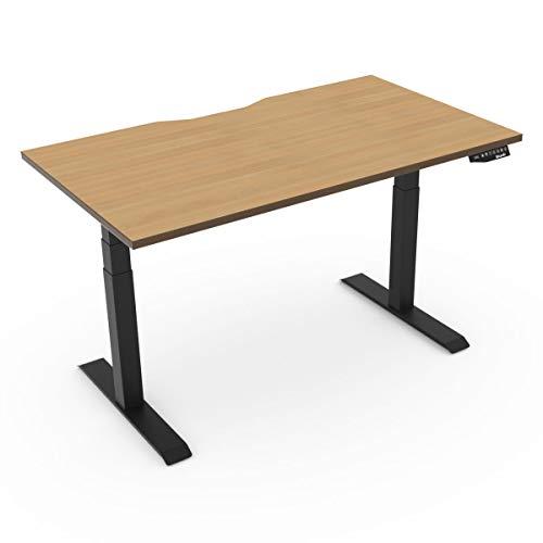 EFurnit Elektrischer höhenverstellbarer Schreibtisch für Büro, Eichen-Schreibtisch, 140 x 80 cm