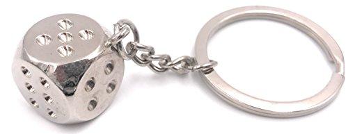 H-Douane dobbelstenen spel blokjes zilveren sleutelhanger
