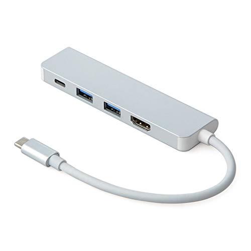 VHNBVHGKGHJ Adaptador USB C a HDMI Adaptador 4K Tipo C Convertidor AV multipuerto Puerto 3.0 Blanco