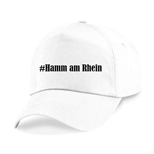 Reifen-Markt Base Cap Hashtag #Hamm am Rhein Größe Uni Farbe Weiss Druck Schwarz