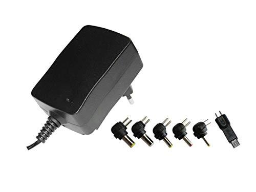 ALIMENTATORE UNIVERSALE SWITCHING 3V 4,5V 5V 6V 7,5V 9V 12V Dc 2.25A CON MICRO USB