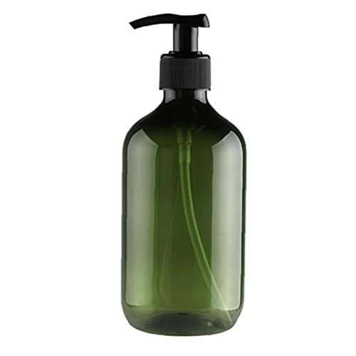 Sanfiyya Bomba de vacío de la Botella rellenable loción champú dispensador líquido Gel de Ducha 300 ml Envase Verde