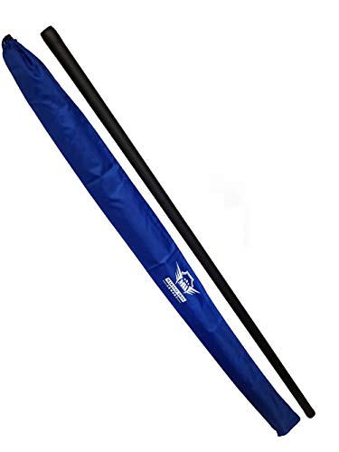 Foam Padded Training Bo Staff with Free Armory Carry Bag Case (Blue/Single, 4 ft.)