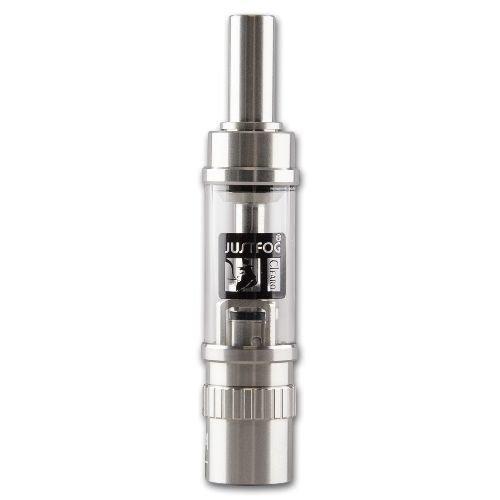Clearomizer JustFog S14 Hybrid OCC 1,8 ml 1,6 Ohm aus Edelstahl Pyrexglas in silber