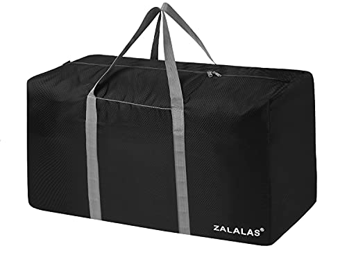 ZALALAS Borsone da Viaggio 96L Grande Capacità Duffel Bag Impermeabile Borsoni Viaggio per Uomo e Donna - Nero