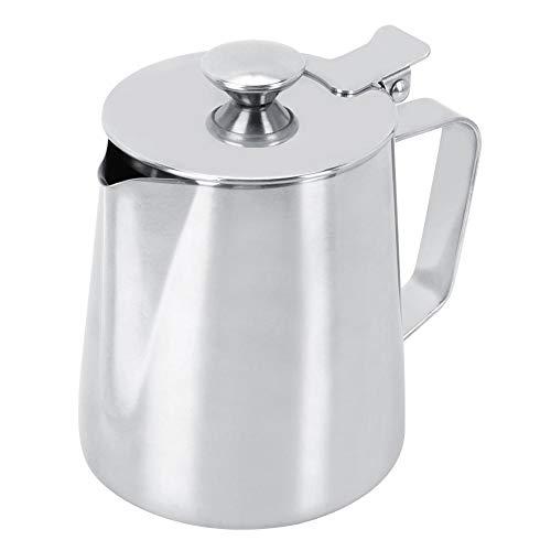 Tazza per Latte in Acciaio Inossidabile 350ml Bricco da Latte Tazza di misurazione Tazza di schiuma di latte con manico per caffè e Latte Art