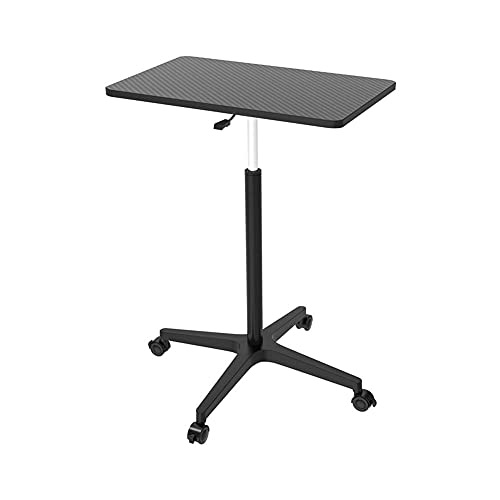 Escritorio portátil de pie, escritorio móvil de altura ajustable, mesa auxiliar de sofá móvil para casa, oficina, sala de estar, dormitorio