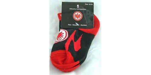 Eintracht Frankfurt Sneakersocken (schwarz/rot, 24-26)
