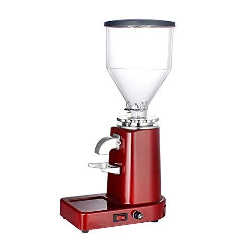 Grano de café amoladora pequeña semiautomática cafetera harina fresadora frijoles pulverizador (Color : Red)