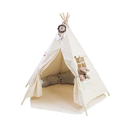 Tipi para niños Seis postes de madera niños juegan tienda del juguete for los niños de los indios norteamericanos niño interior y exterior de juegos no está incluido blanco mate Juguetes para interior