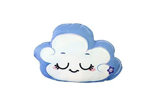 World Alive- Soul Mates Cojín Cuentos Infantil Mindfulness Nube, Color Blanco Azul (8008)