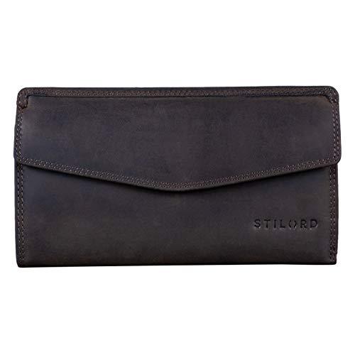STILORD 'Gloria' Billetera de Piel Mujer RFID Bloqueo Vintage Cartera para Señora...