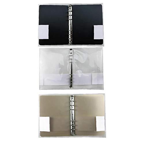 GGOOD B5 Notebook Shell Multi Holes Binder Ordner Aktendeckel Briefpapier Pp Notebook-Schutz-Abdeckung Mit Schnapp 3stellen Transparent Braun Und Schwarz