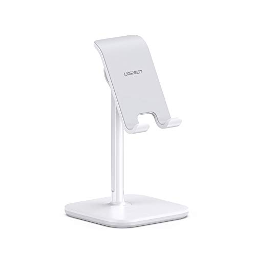 UGREEN Cell Phone Stand Desk Holder Adjustable Compatible with iPhone 11 Pro Max SE XS X XR 8 7 6 Plus 6S, Samsung Galaxy S20 Ultra S10 S9 S8 Note 10 9 8, LG G8 ThinQ, Android Phone Up to 8 Inch