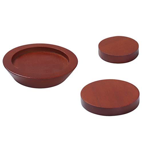 VORCOOL 3Pcs Braune Bettgurte 3. 22 Zoll Möbel Riser Hebt Höhe Holz Riser Feuchtigkeitsmatte für Bettmöbel Tisch Sofa Stuhl Erhöht Die Höhe