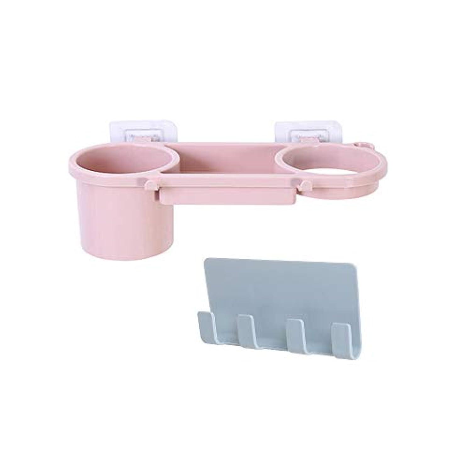 COOSIC Set of 2 Adhesive Bathroom Shelf Storage Organizer Easy to Wall Mount Storage Basket for Hair Dryer, iPhone, Plug