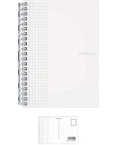 リヒトラブ hirakuno ツイストノート B6タテ ホワイト N1672-0 【× 2 冊 】 + 画材屋ドットコム ポストカードA