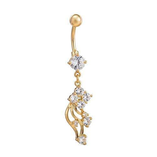 Piercing para ombligo de acero inoxidable, antialérgico, en forma de flor de ombligo, único en forma de flor para el ombligo, para mujeres elegantes y chicas