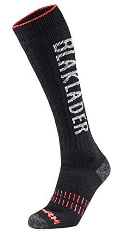 Blaklader Workwear Socken XWARM 2193 - Herren Größe 6.5-9.5 (EU 40-44) Schwarz/Neon Rot
