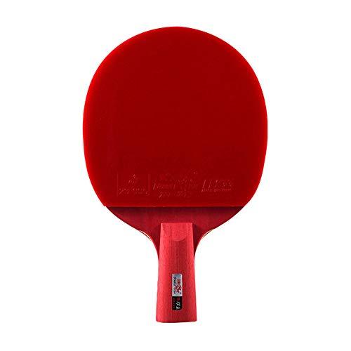 YXYXX 5 estrellas Juego de Raquetas de Ping Pong, tipo ataque Raquetas de Tenis de Mesa, para principiantes e intermedios / 5 estrellas/Mango corto