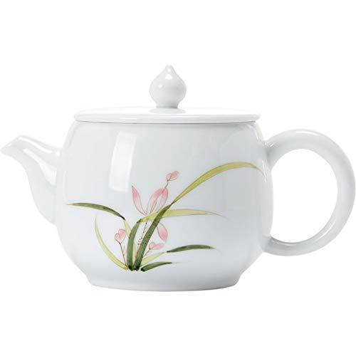 ROEWP Teteras teapot 200ml / 6.8oz Pintado a Mano de cerámica Blanca Tetera Exquisita Inglés Tarde Juego de té teteras de Porcelana de Hueso Globo Creativo Tetera Cafetera Simple Caldera con infusor