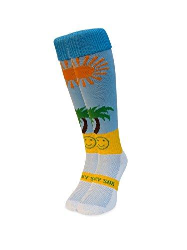 WackySox Das Leben ist ein Strand-Sport-Socken Adult Shoe Size 11-14