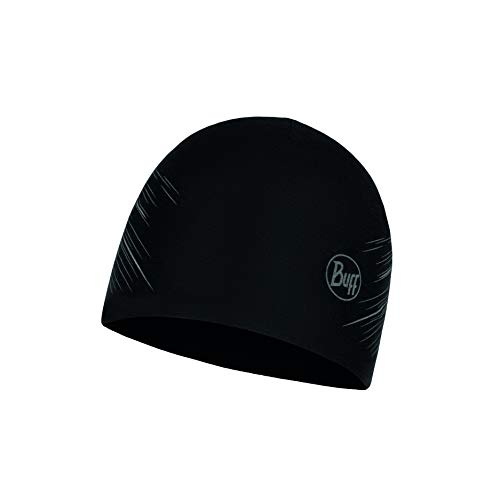 Buff Erwachsene Hut Microfiber Reversible, R-Solid Black, One Size, 118176.999.10.00