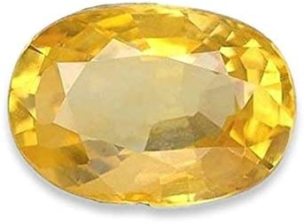 Yellow Sapphire unisex Stone Square Shape Pu Original Natural Certified Super beauty product restock quality top