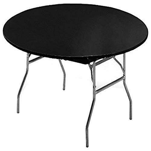 Creative Converting Party Supplies Plain Black Elastic Corners Plastic Tablecover, 60'