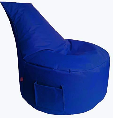 GlueckBean Hochwertiger Sitzsack Bodenkissen - Indoor & Outdoor - Gaming Sessel Sitzkissen mit Styroporkugeln Füllung - auch ideal für Kinderzimmer -blau
