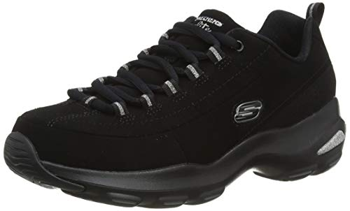 Skechers Women D'lite Ultra - Reverie Trainers, Black (Black), 5 UK (38 EU)