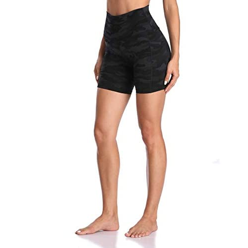 Colorfulkoala Women's High Waisted Yoga Shorts with Pockets 6″ Inseam Workout Biker Shorts